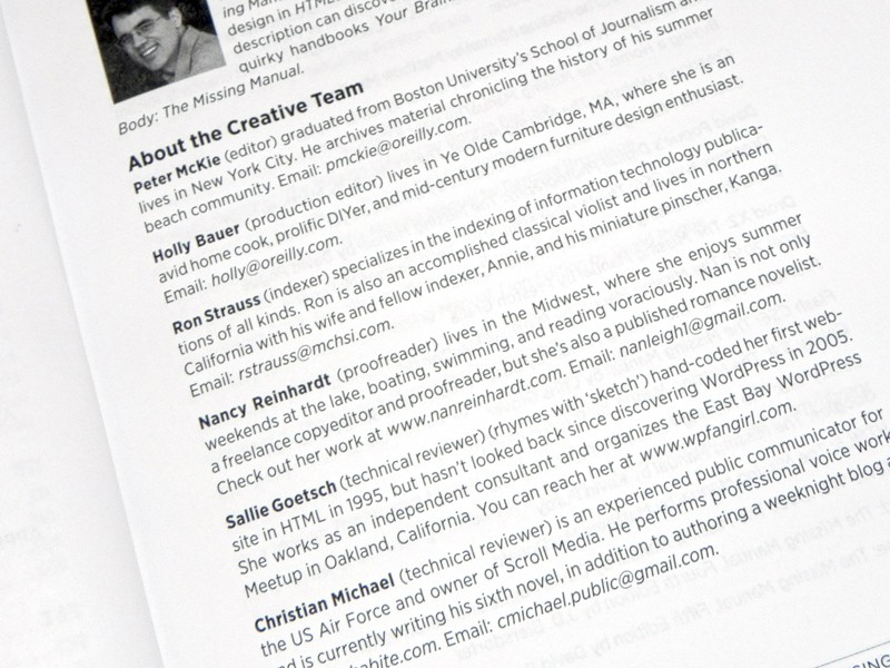 WordPress Missing Manual Credits